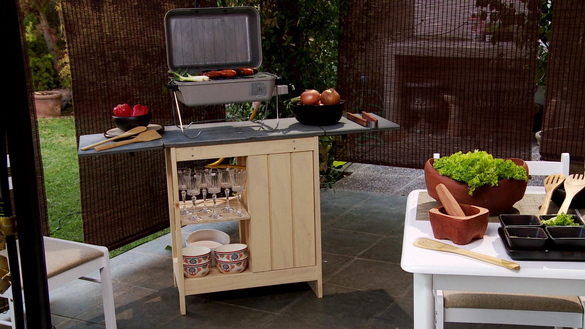 Hágalo Usted Mismo  ¿Cómo construir un centro de cocina exterior?