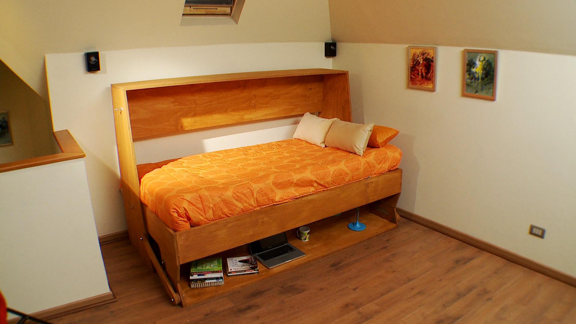 H galo usted mismo c mo construir un escritorio con cama plegable - Cama abatible matrimonio conforama ...
