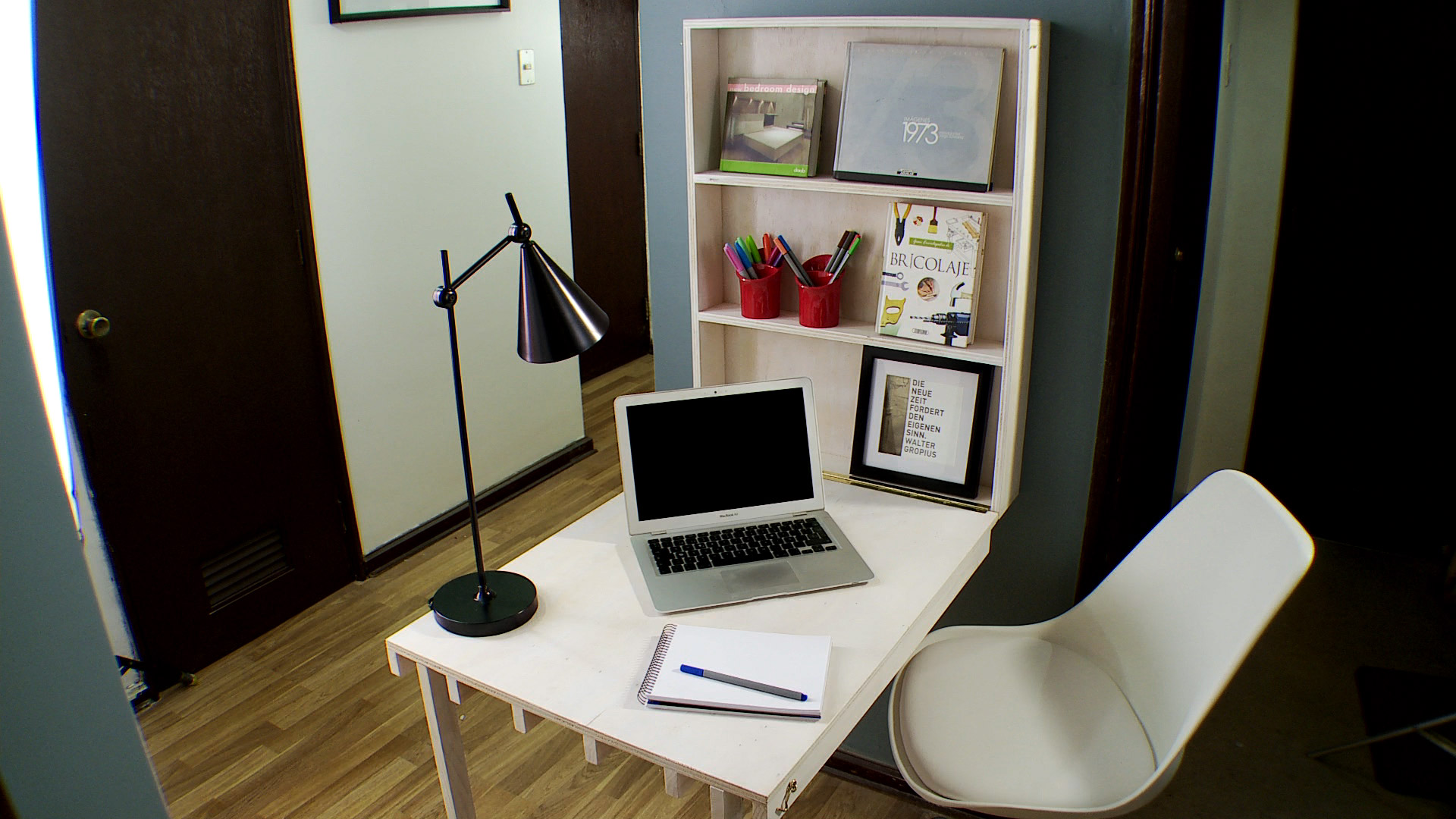 H galo usted mismo c mo construir un escritorio con - Mesa de escritorio plegable ...