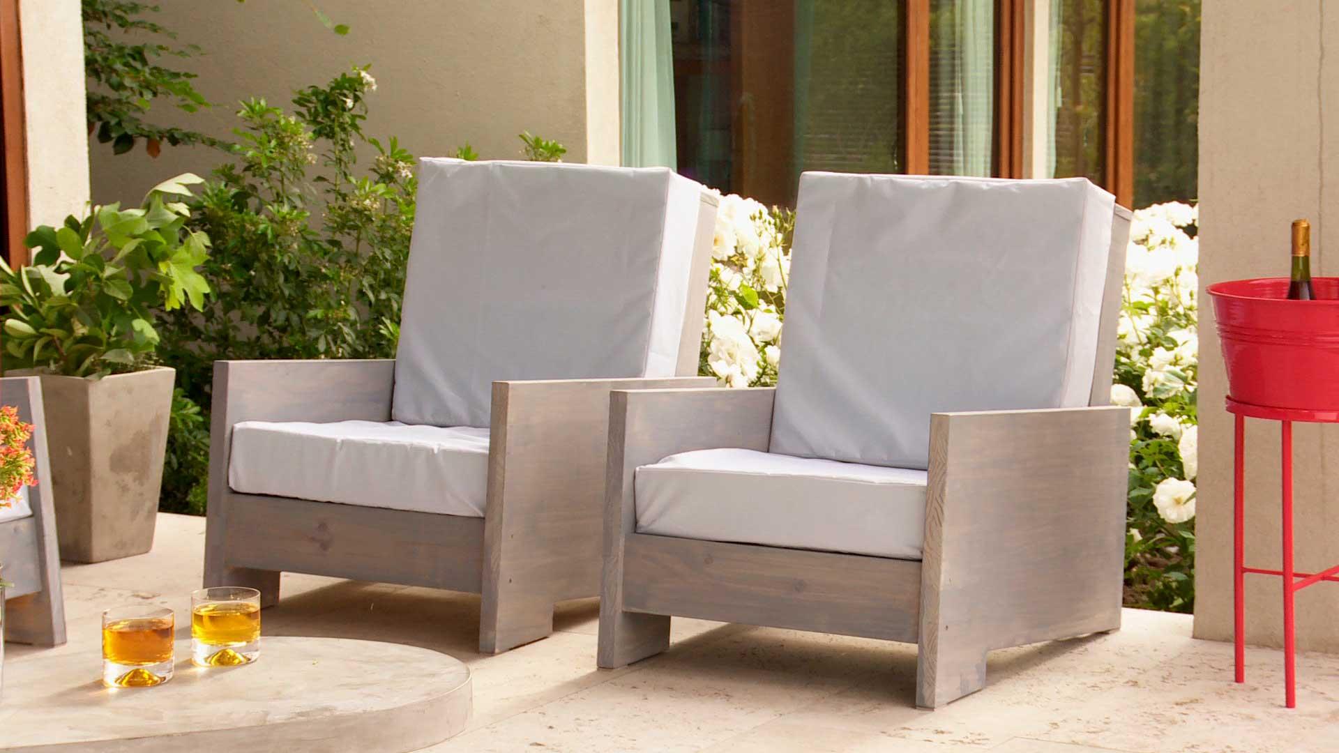 H galo usted mismo c mo construir un living de terraza for Sodimac muebles de exterior