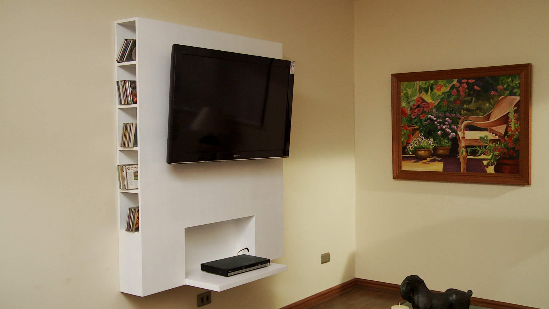 Colgar la tele en la pared rack soporte para tv de pared - Como colgar una tele en la pared ...
