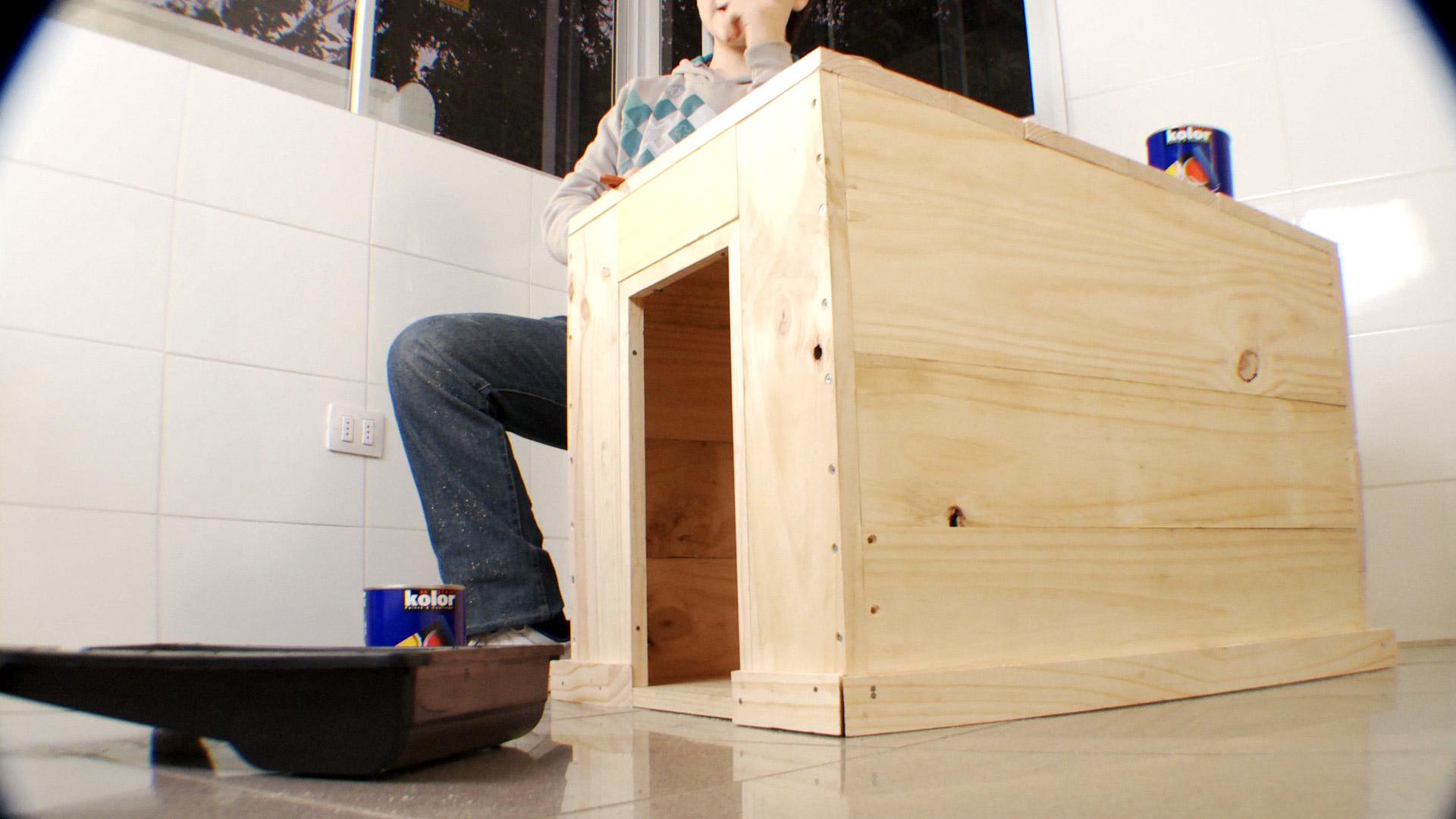 H galo usted mismo c mo hacer una casa de perro - Como se hace una casa de madera ...