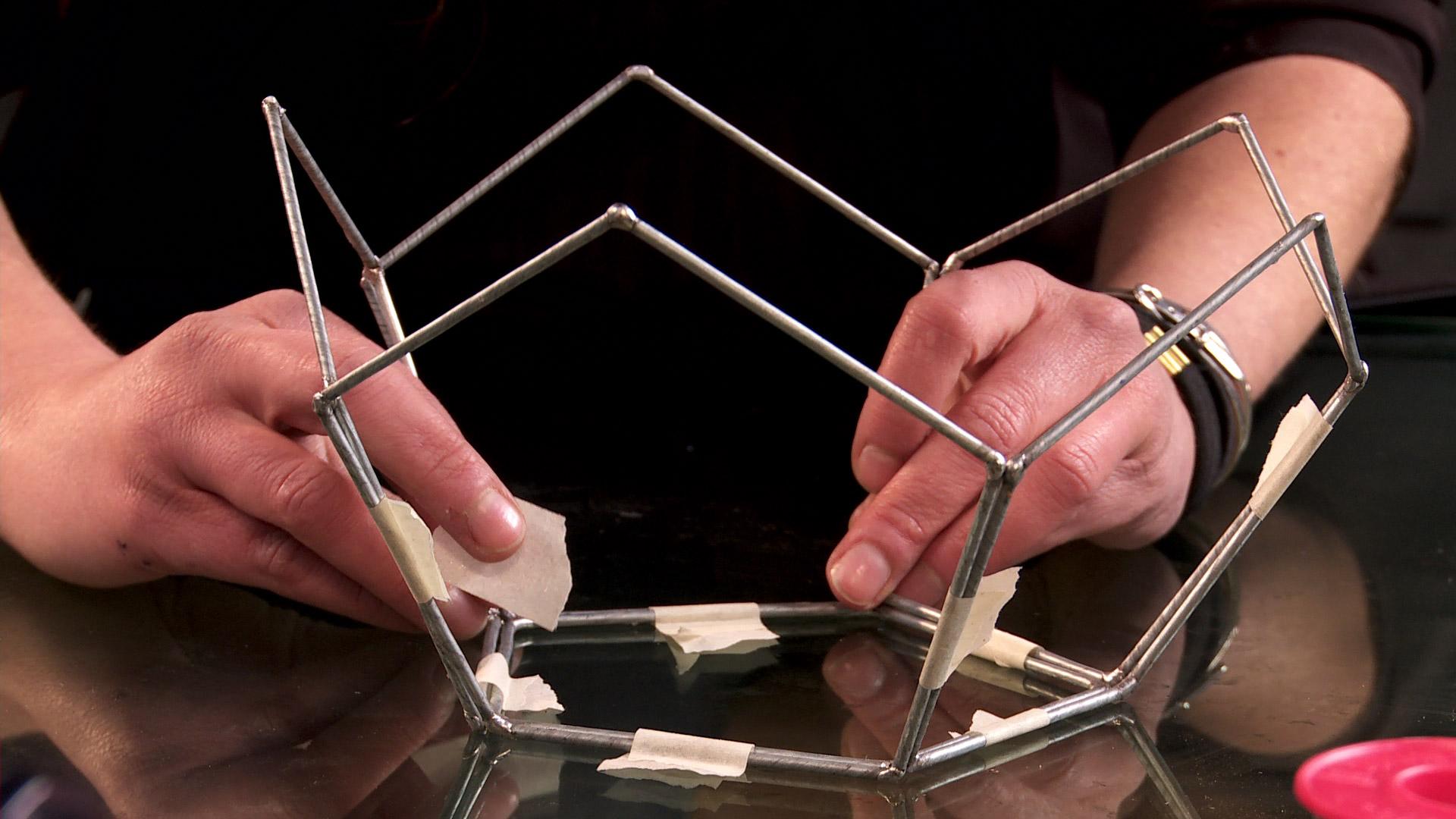 H galo usted mismo c mo hacer una l mpara geom trica - Como hacer lamparas de techo artesanales ...