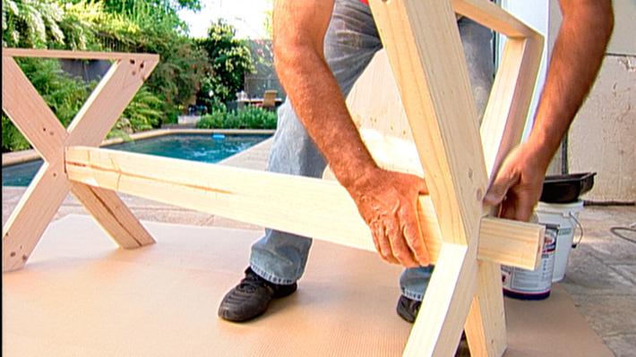 H galo usted mismo c mo hacer una mesa de madera - Como hacer una mesa abatible ...