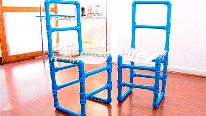 H galo usted mismo c mo hacer una silla de pvc para ni os - Tapizado de sillas paso a paso ...