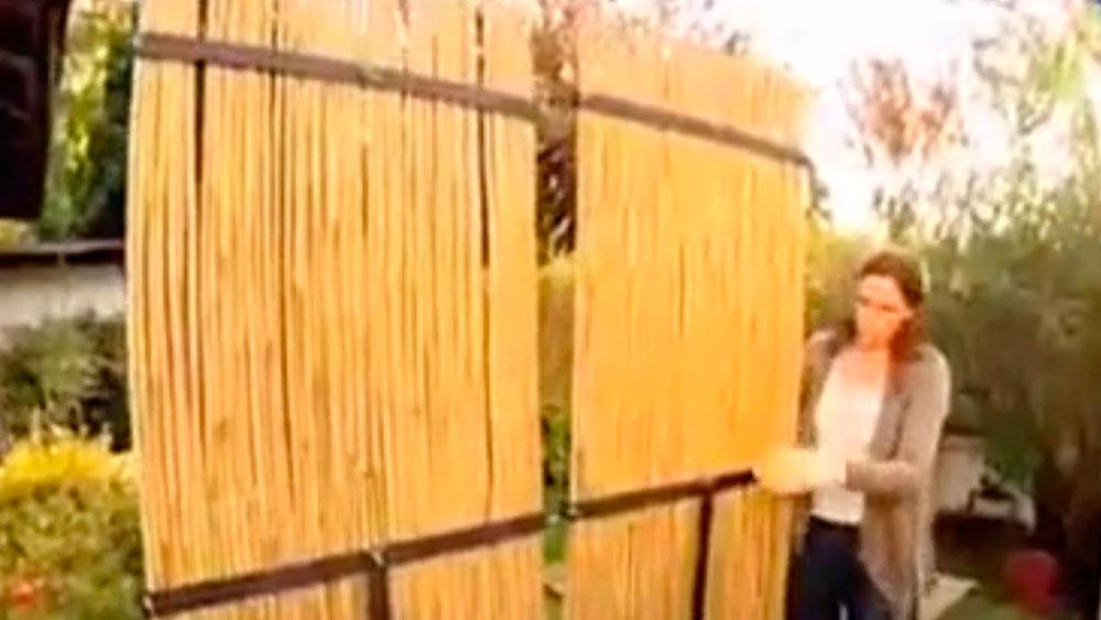 H galo usted mismo c mo hacer un biombo natural para for Biombos para jardin