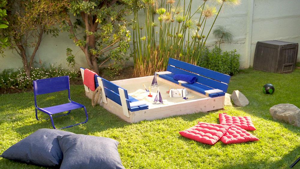 Baños Para Jardin De Ninos:Los cajones de arena son una zona de juego que a su vez se puede