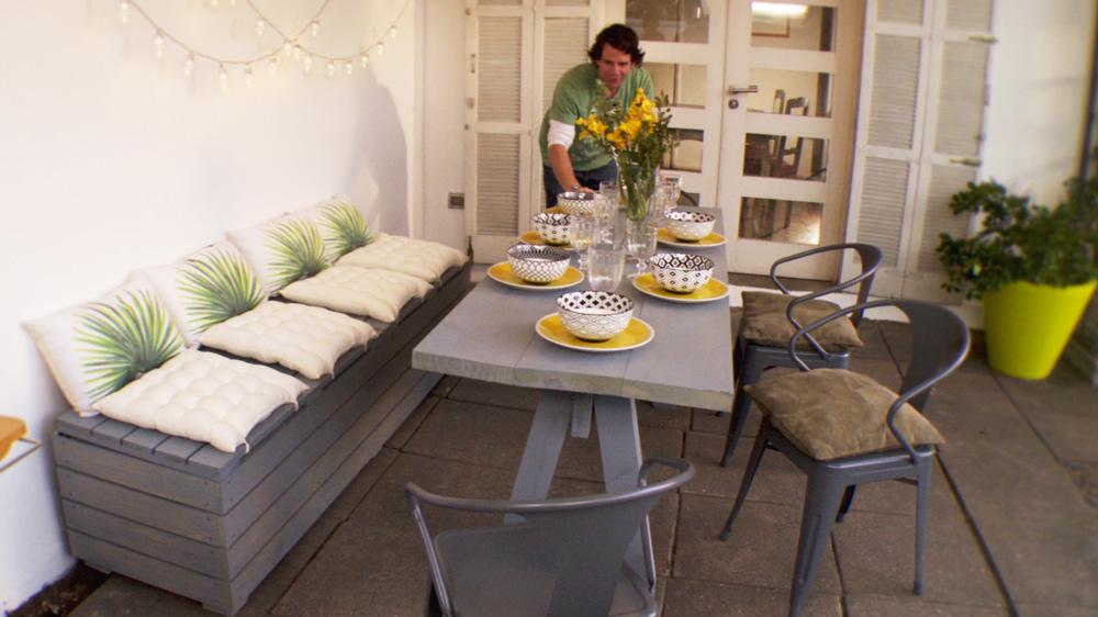 H galo usted mismo c mo construir una mesa de comedor for Comedores exteriores para terrazas