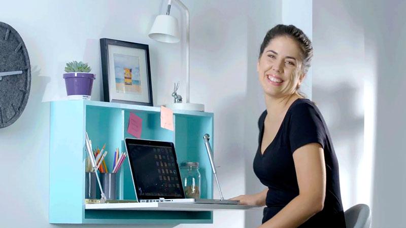 H galo usted mismo c mo construir un escritorio plegable - Como hacer una mesa de escritorio ...