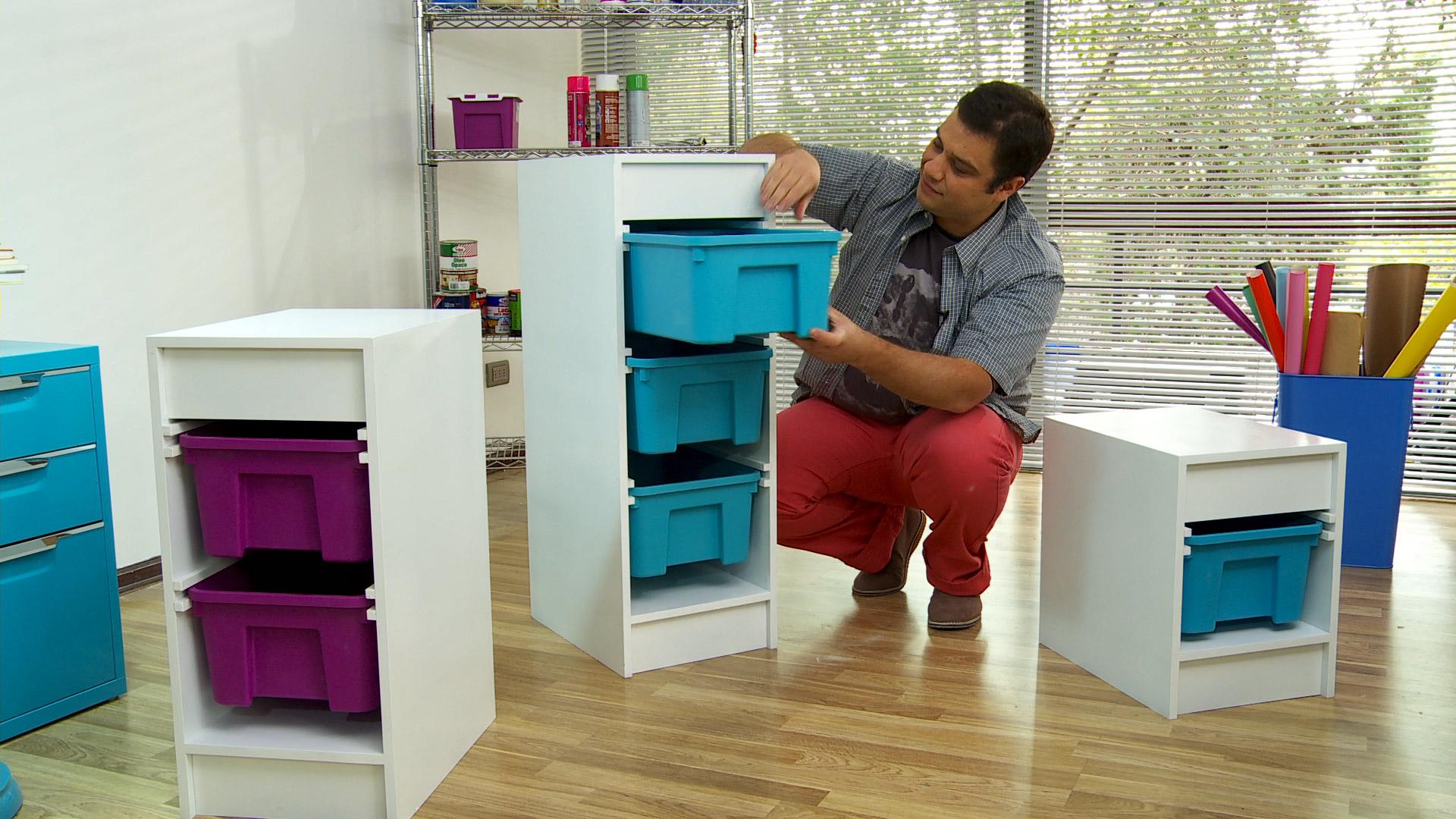Hágalo Usted Mismo ¿Cómo hacer un estante con cajas plásticas? #0E99B5 1920x1080