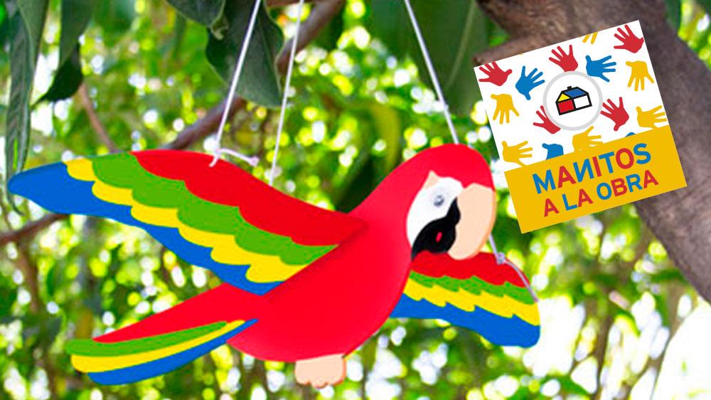 Si quieres adornar tu pieza o jardín con los hermosos colores de un guacamayo, acá te mostramos cómo. Esta linda ave, de la familia de los loros, se caracteriza por su colorido plumaje y por habitar las selvas desde México hasta el noreste de Argentina. Estamos lejos de la selva, pero tú puedes estar muy cerca de tu guacamayo.