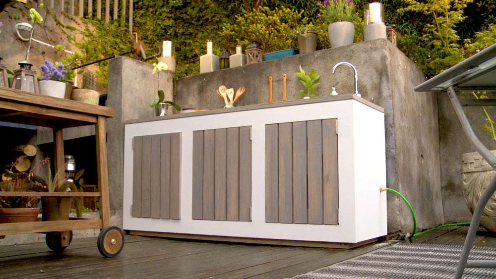 H galo usted mismo c mo hacer un mueble de cocina exterior - Azulejos pena arganda del rey ...