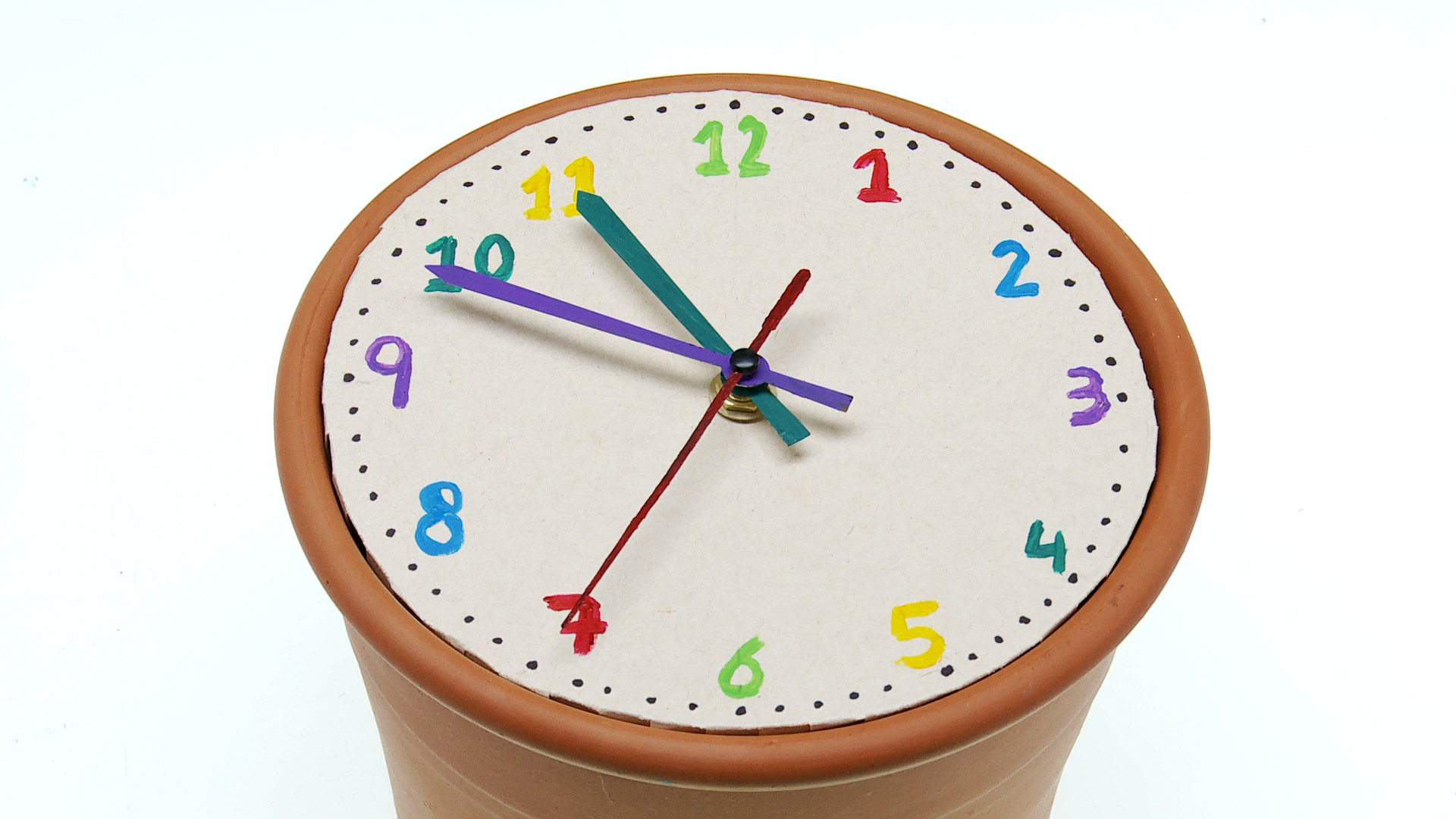 H galo usted mismo c mo hacer un reloj - Hacer reloj de pared con fotos ...