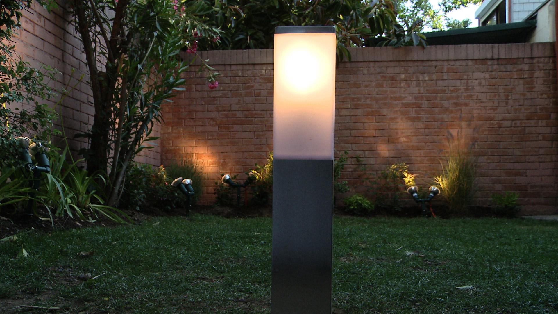 H galo usted mismo c mo instalar luces en el jard n - Luces de led para exterior ...