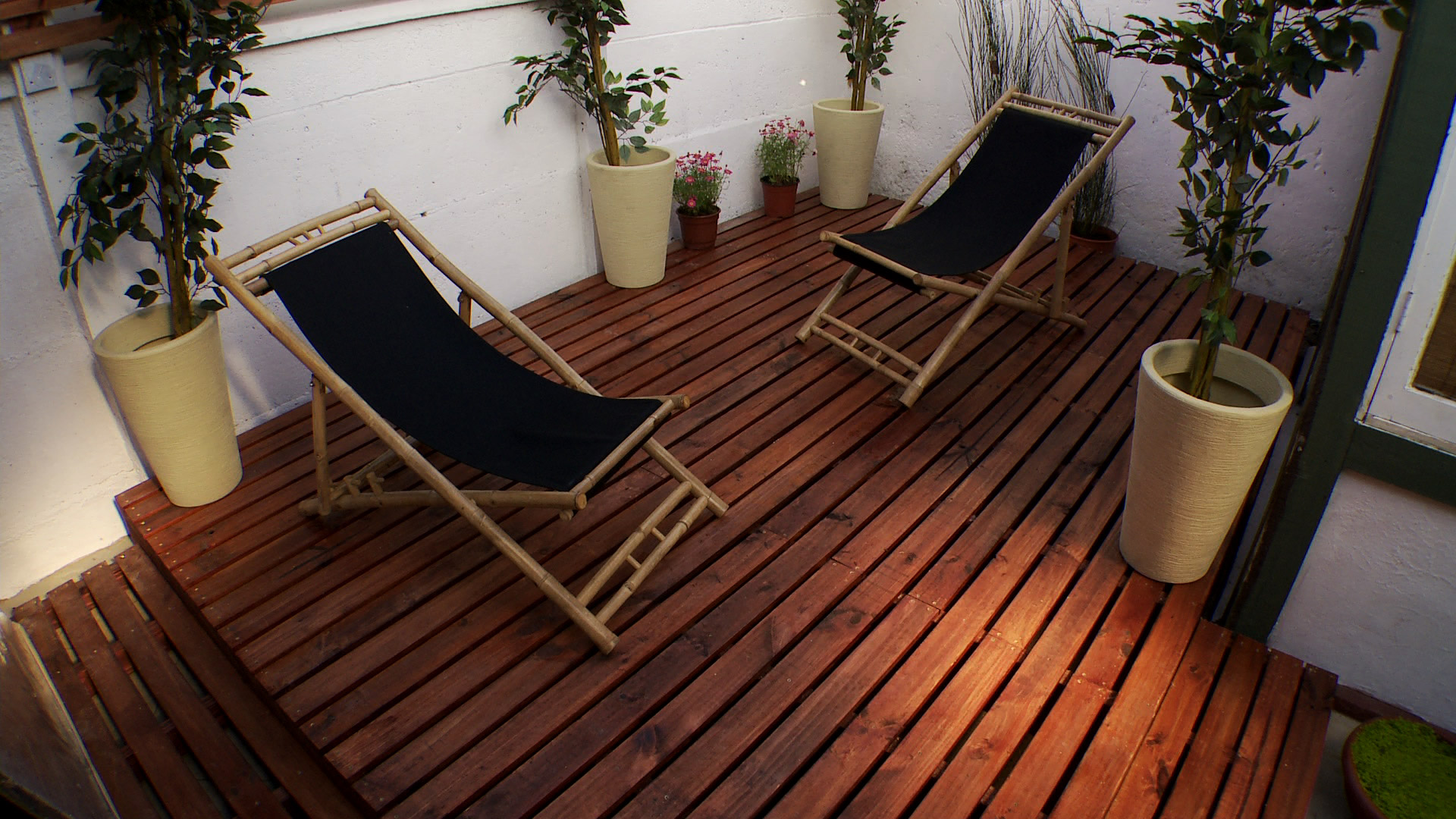 H galo usted mismo c mo construir una terraza de madera - Como poner un suelo de madera ...