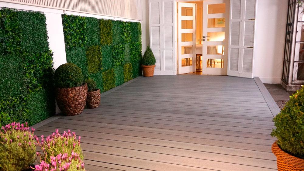 H galo usted mismo c mo instalar un deck de madera o un - Forrar pared de madera ...