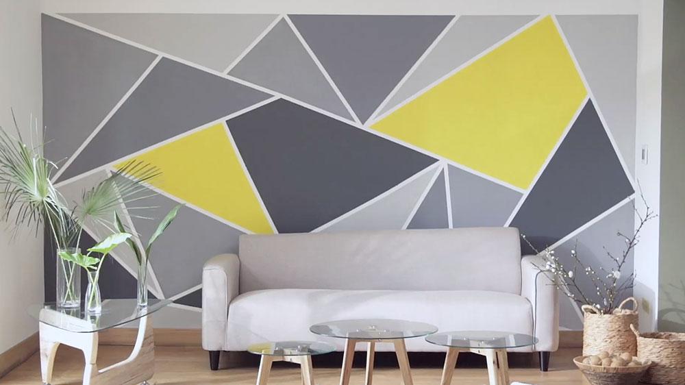 Una manera de personalizar la casa es aplicarle diseño a la pintura de las paredes. En este proyecto proponemos hacer figuras geométricas en uno o más muros de nuestro espacio, y usando los mismos elementos que utilizamos para pintar las paredes de la manera tradicional.