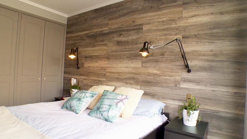 H galo usted mismo c mo remodelar un muro con for Decoracion dormitorios piso flotante