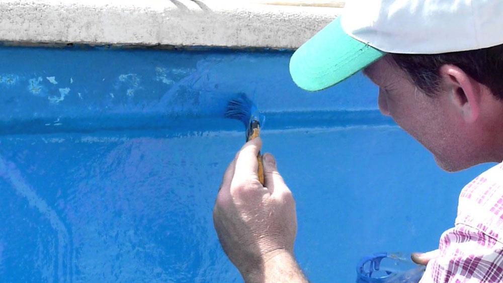 H galo usted mismo c mo reparar y pintar una piscina - Pintar paredes estucadas ...