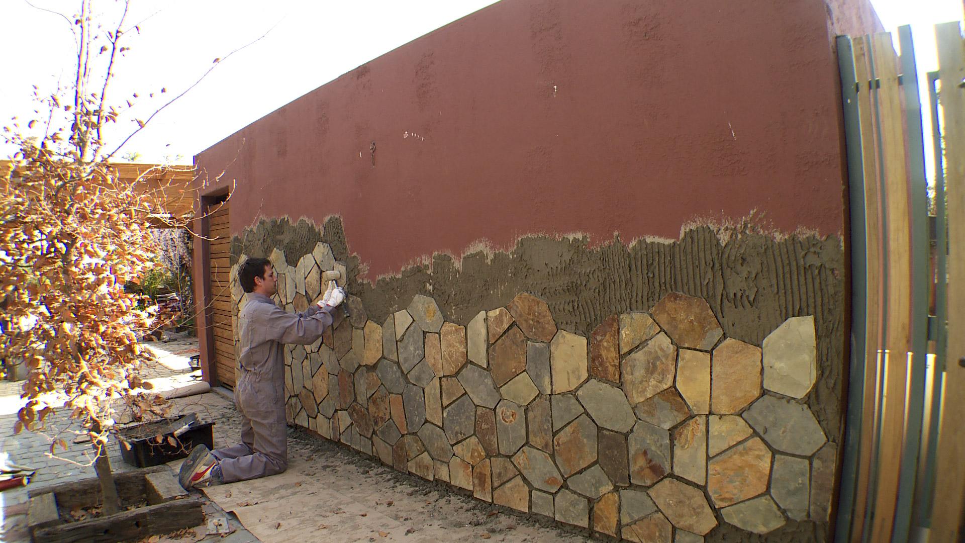 H galo usted mismo c mo revestir con piedra un muro for Tipos de piedras para paredes exteriores