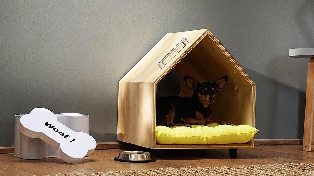 No por vivir en un departamento o una casa pequeña, tu perro no tendrá su propio espacio y su casita para dormir. Con este proyecto apostamos a que nuestros pequeños compañeros puedan disfrutar de un espacio cómodo exclusivamente para ellos sin restarle diseño a la habitación.
