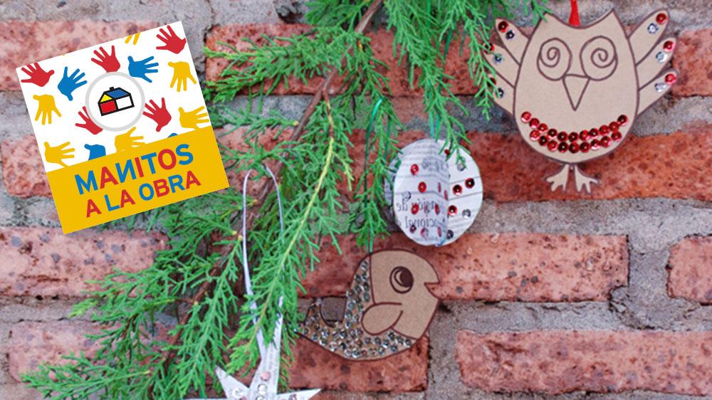 Con pocos materiales podrás ayudar a decorar el arbolito y darle un toque especial a las fiestas de fin de año. ¡Comencemos!