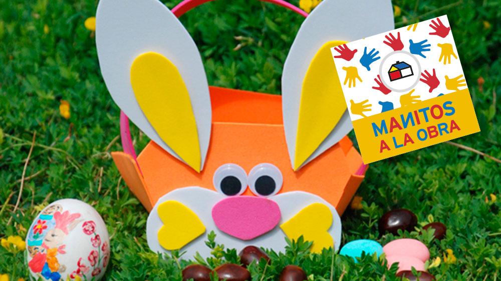 Se acerca la Pascua de Resurrección y el conejo esconderá muchos huevitos de chocolate. Haz tu propio canasto y ¡guárdalos todos!
